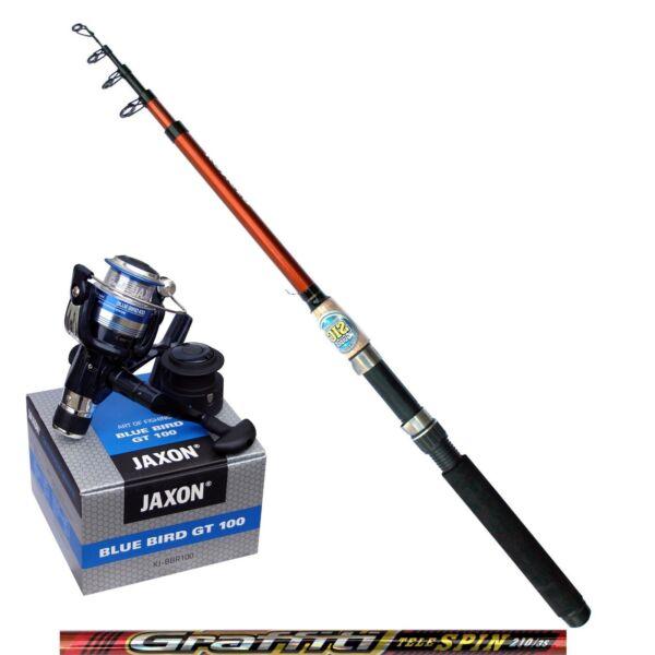 Amo Kong Canna Da Pesca 2,10m 35g Jaxon Angel Ruolo Bobina In Alluminio Bobina Di Ricambio