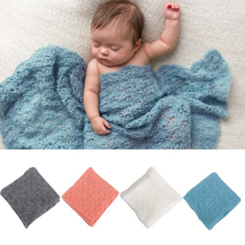 Newborn Baby Stretch Mohair Wrap Cocoon Photo Photography Prop with Headband
