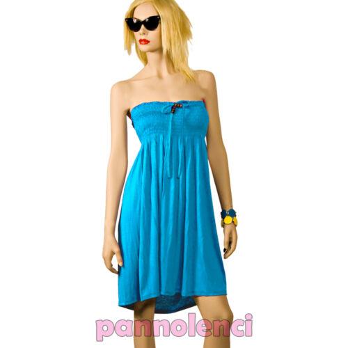 Abito miniabito vestito donna jersey dress vestitino copricostume mare AS-08503