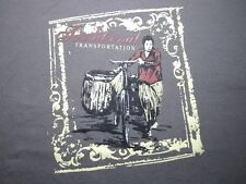 T-Shirt, TRADITIONAL TRANSPORTATION Mens S Framed Bicycle Grey Cotton