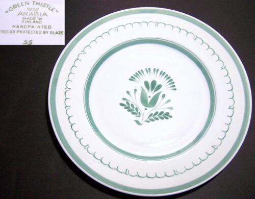 Arabia of Finland Green Thistle Salad Plates
