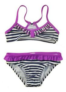 aed23999c8b62 Image is loading Jessica-Simpson-Girls-Striped-Navy-2pc-Bikini-Swimsuit-