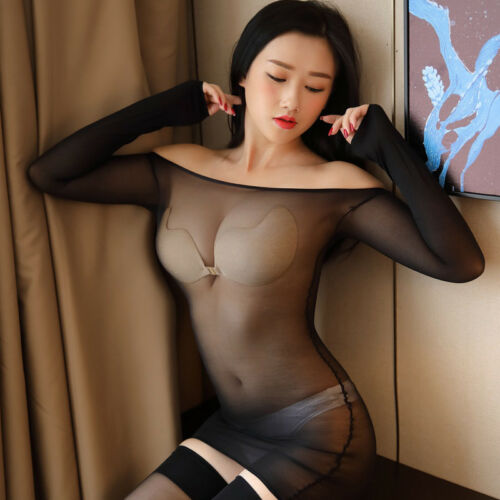 Women Body stockings Long Sleeve Bodysuit Transparent Leotard Costumes Bodyhose