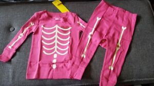 a807a04dd New Girls Old Navy Infant Pink Glow in the Dark Skeleton Pajamas 12 ...