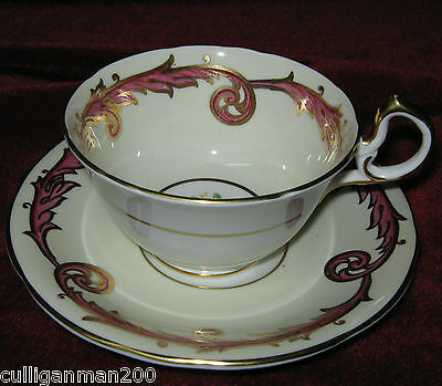 1 - Aynsley Pattern 7323 Tea cup and saucer (2014-199)