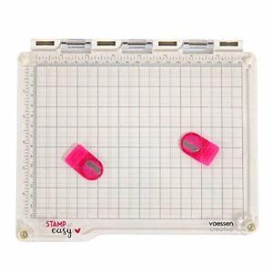 Vaessen Stamp Easy Stamping Tool Grid Press 20cm X 15cm Area