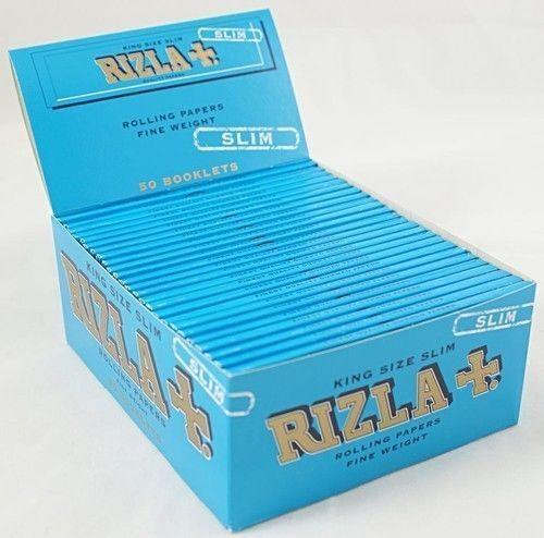 10 carnets RIZLA BLEU TAILLE EXTRA LARGE fins papier à rouler
