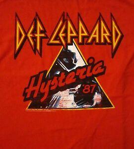 DEF LEPPARD cd cvr HYSTERIA '87 Official Red SHIRT XXL 2X new