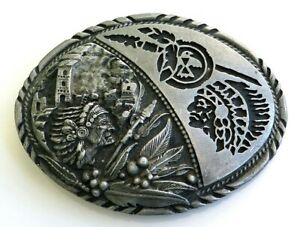 Native-American-Indian-Chief-SSI-Vintage-Belt-Buckle