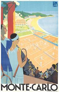Unique-Vintage-Monte-Carlo-Tennis-Art-Deco-Advertising-Print-Choice-of-2-sizes