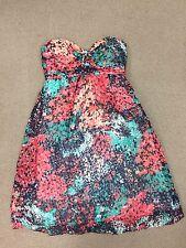 SHOSHANNA Multi Color Strapless  Sweetheart Neck Empire Waist Dress Size 8