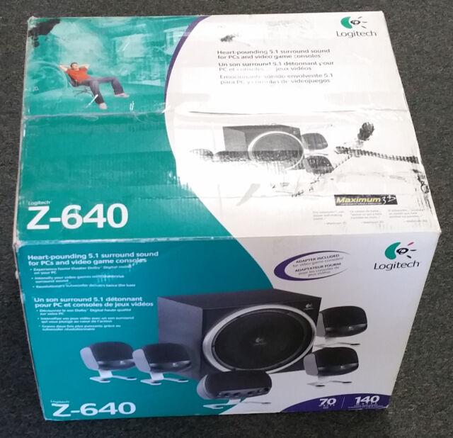 Logitech Z-640 5.1 Surround Sound PC 6 Speaker Gaming Computer ...