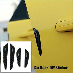 4X-Black-Carbon-Fiber-Auto-Car-Door-Side-Anti-collision-Protector-DIY-Stickers