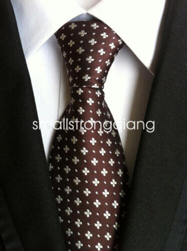 Lot Mens Classic 100/% Silk Tie Necktie Striped White Black JACQUARD Neck Ties