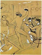 Toulouse-Lautrec-Chocolat Ed. 300 ud Signed Print. Num. pencil. Certif. Edition