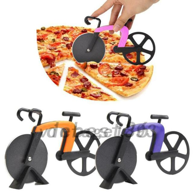 Stainless Steel Wheel Super Sharp and Easy To Clean Pizza Slicer Bicycle Pizza Cutter Cool Kitchen Gadget KitchenAid