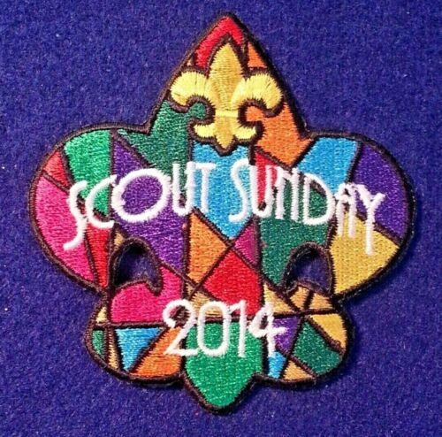 BOY CUB SCOUT SCOUT SUNDAY PARTICIPATION PATCH  2014 A00171