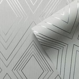 Alea-Papier-Peint-par-Muriva-Gris-Argent-703040-Couloirs-Pointille-Detail