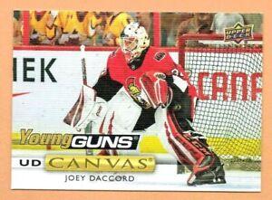 2019-20-Upper-Deck-YOUNG-GUNS-CANVAS-Joey-Daccord-C109-Ottawa-Senators