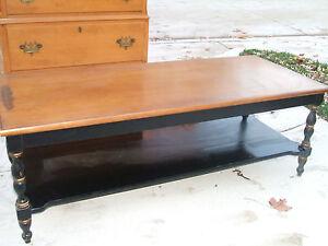 1960 39 S Hitchcock Copy Coffee Table Ebay