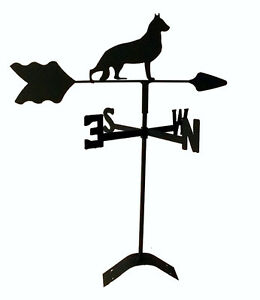 german-shepherd-roof-mount-weathervane-wrought-iron-look-made-in-usa-TLS1021RM