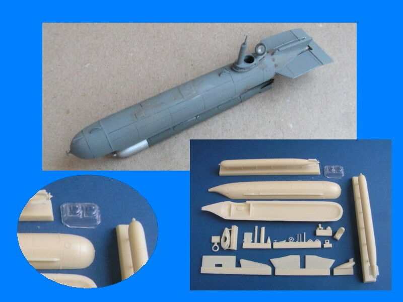 Pavla Models 1 72 MOLCH German WWII Midget Submarine (Full resin kit)