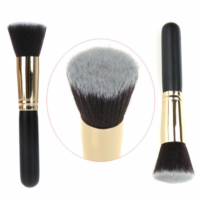 Pro Flat Makeup Brush Cosmetic Brush Kabuki Face Nose Powder Foundation Tool