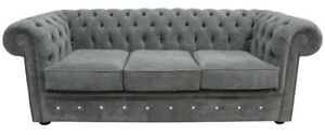 Chesterfield-Design-Luxury-Pads-Sofa-Couch-Seat-Set-Leather-Textile-New-239