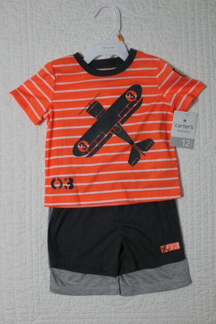 c833f4433 Carters Baby Boys Airplane 3pc Pajamas Set Size 18 Months 18m ...