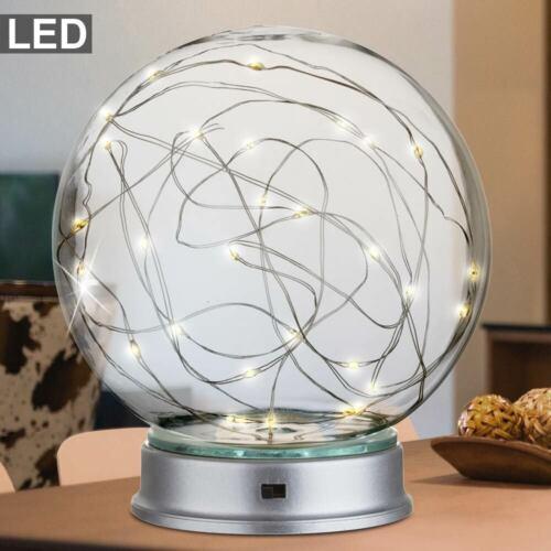 LED Design Tisch Kugel Lampe Schlaf Zimmer Deko Beleuchtung Batterie Leuchte