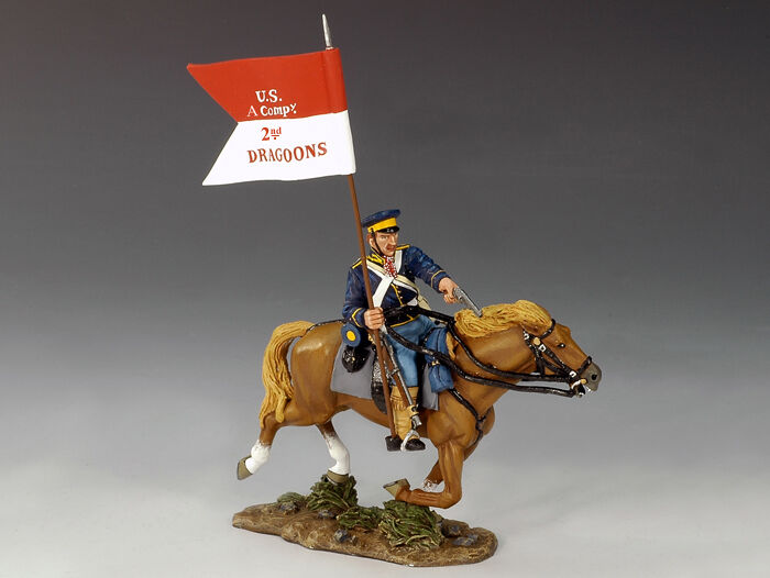 KING AND COUNTRY Mounted Dragoon w  Guidon TRW02 TRW002
