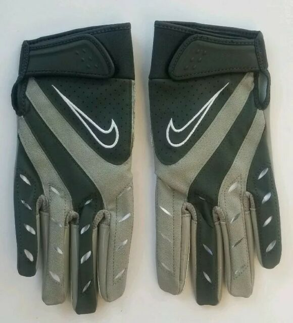 Nike College Elite Remix Football Gloves Sz XL Extra Large PGF131 Gray