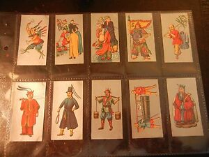 1926-Cavanders-ANCIENT-CHINA-Chinese-complete-set-25-Tobacco-Cigarette-cards