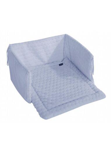 Blue swinging crib bedding set