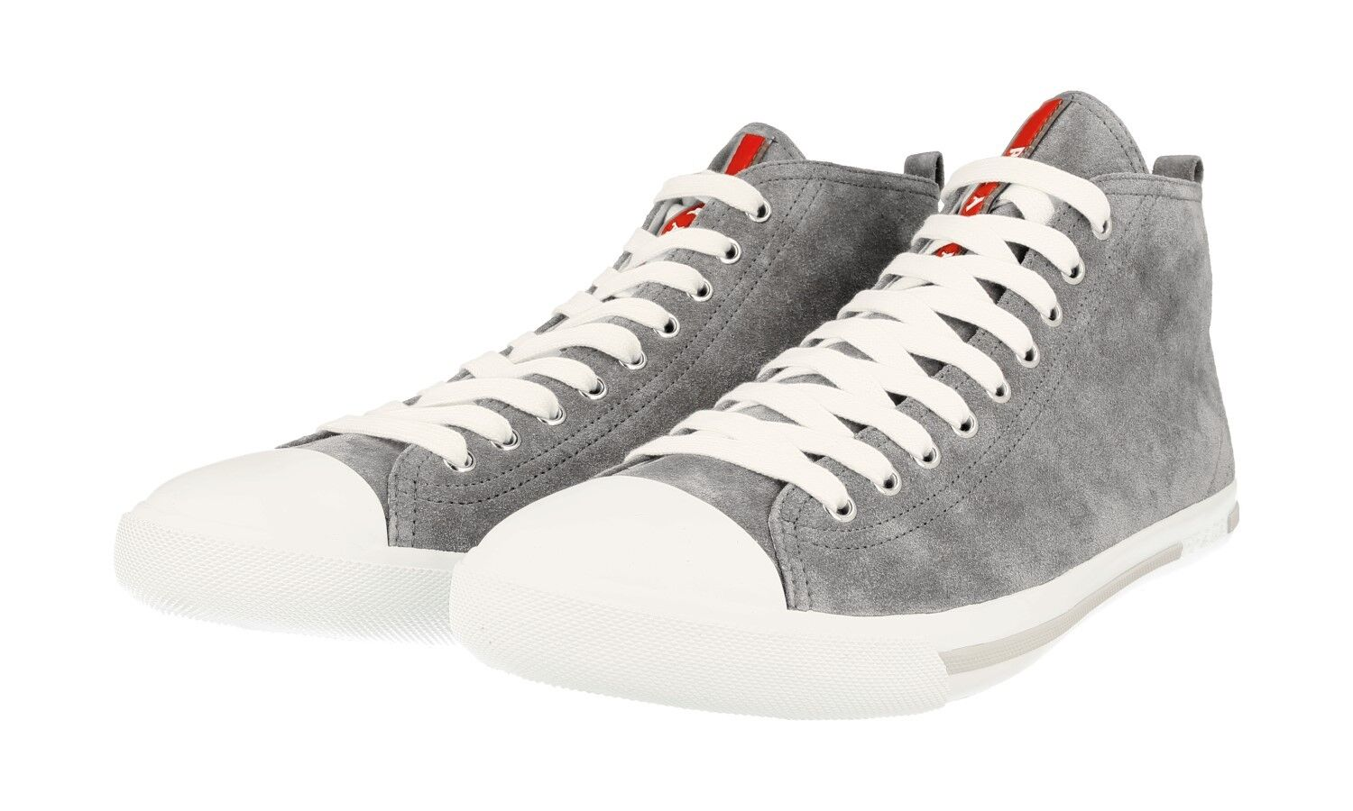 AUTHENTIC LUXURY PRADA SNEAKERS SHOES 4T2583 GREY NEW US 11.5