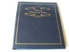 DIANA PRINCESS OF WALES, WESTMINSTER BLUE LUXURY 4 RING STAMP ALBUM, EXC COND