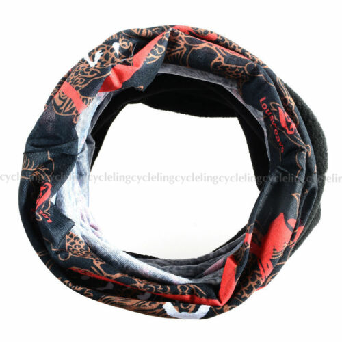 RockBros Headwear Fleece Thermal Headband Neck Warmer Sport Scarf Black Red