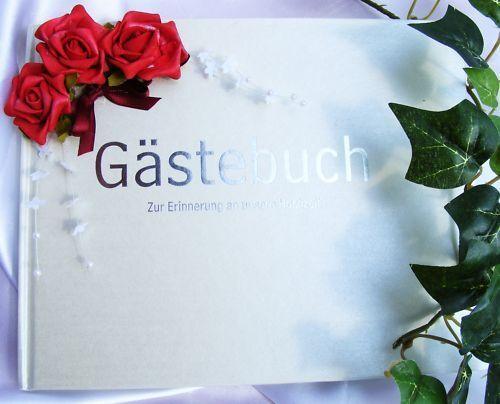 Gästebuch im Shop Hochzeitskerze Ringkissen G002