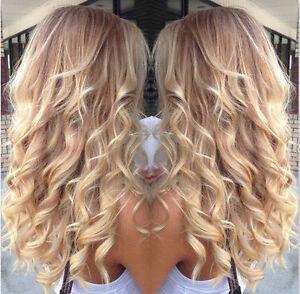 100 European Real Human Hair Wigs Balayage Blonde Wavy Remy Lace
