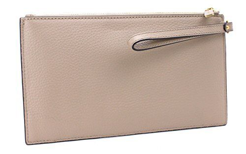 MICHAEL-KORS-MINI-GROMMETS-SHELL-GRAY-LEATHER-SUEDE-ZIP-WRISTLET-CLUTCH-HANDBAG