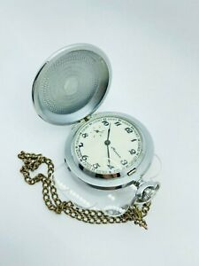 MOLNIJA Hunting Soviet Pocket Watch Mechanical RARE Gift to the hunter USSR VTG