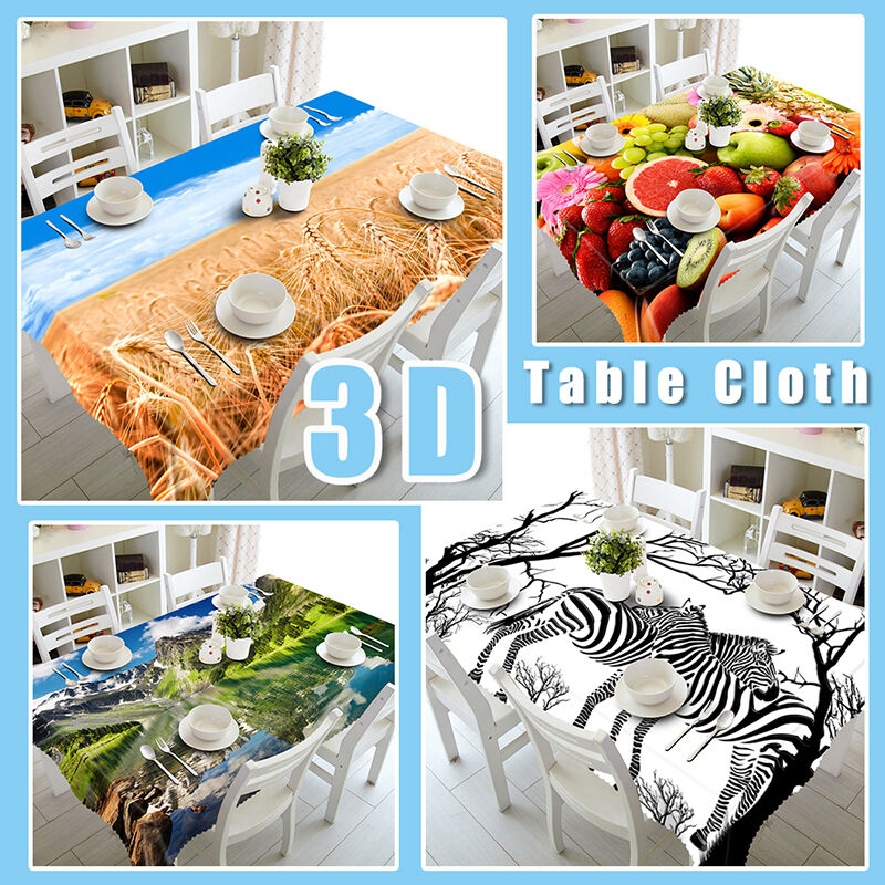 3D 3D 3D Snowed Forest Tablecloth Table Cover Cloth Birthday Party Event AJ WALLPAPER 0ed978