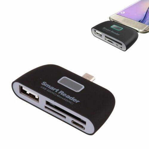 4-In-1 Multifunctional USB 2.0 SD Smart Card Reader TF OTG Card Reader Portable