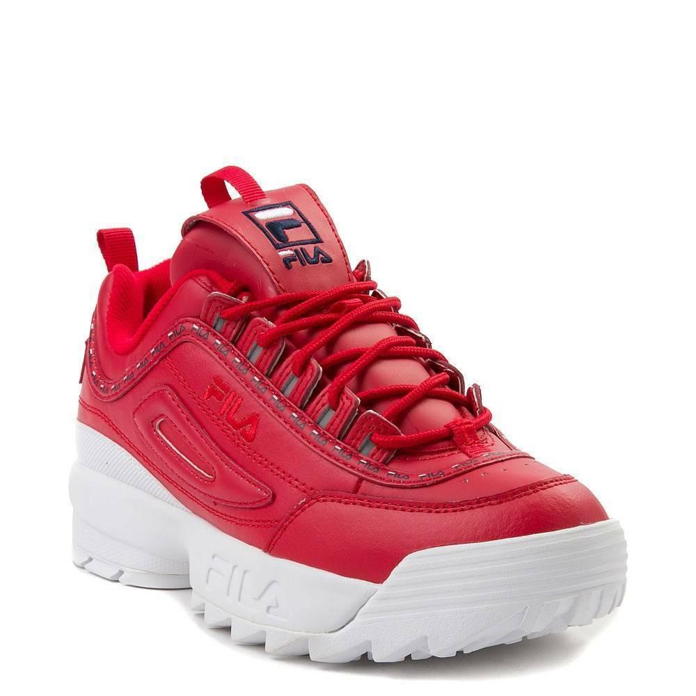 Neu Damen Fila Disruptor II Athletic Schuhe rot 2
