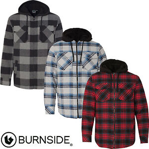 Burnside - New for 2017! Quilted Flannel Men's Full-Zip Hooded ... : quilted flannel jacket with hood - Adamdwight.com