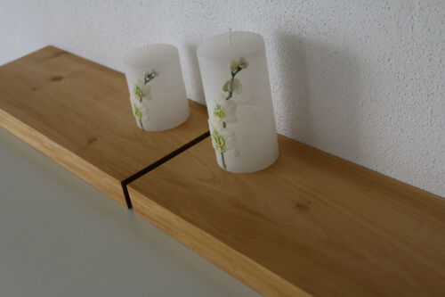 Wandboard 2x Akazie Massiv Holz Board Regal Steckboard Regalbrett Baumkante NEU