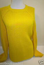 LAUREN RALPH  women's YELLOW RIBBED sweater SIZE L  new nwt