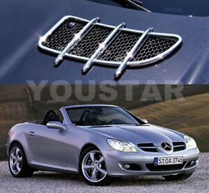 Parcelforce-CHROME-Bonnet-Vent-Grill-Trims-for-Mercedes-Benz-R171-SLK-AMG-SLK350