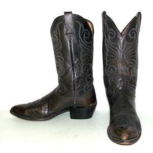 Steel Grey Cowboy Boots Mens Size 11 B Dan Post Narrow