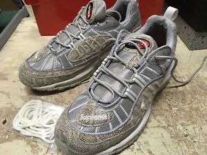8aae33e1fb1 USED MENS NIKE AIR MAX 98 SUPREME SNAKE SKIN SZ 10.5 RUNNING FREE ...